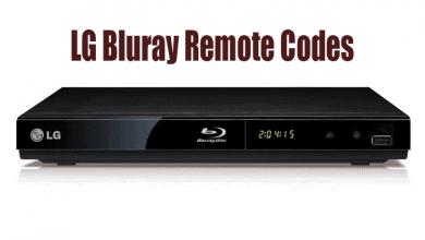 LG Bluray Remote Codes