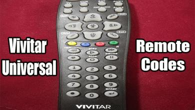 Vivitar Universal Remote Codes