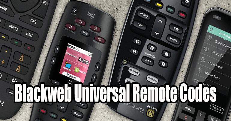 blackweb universal remote codes