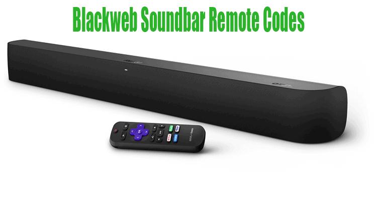 Blackweb Soundbar Remote Codes
