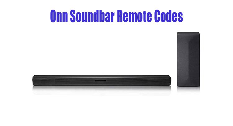 Onn Soundbar Remote Codes