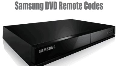 Samsung DVD Remote Codes