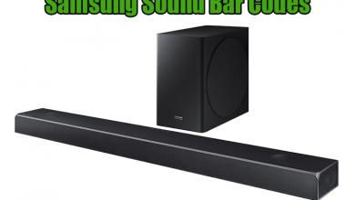 Samsung Sound Bar Codes