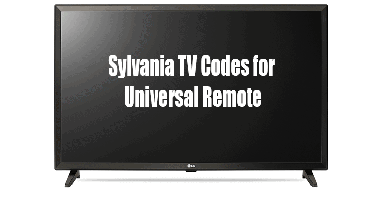 Sylvania TV Codes for Universal Remote