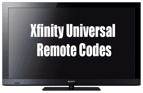 comcast remote codes for sony tv