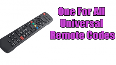 One For All Universal Remote Codes