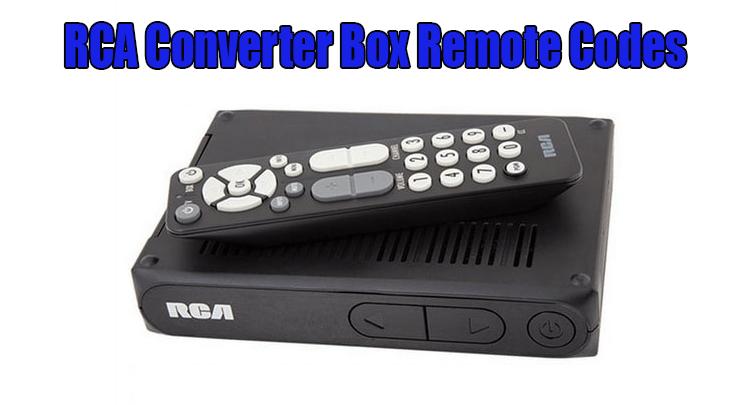 RCA Converter Box Remote Codes