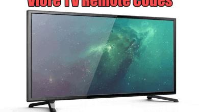 Viore TV Remote Codes