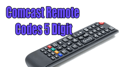comcast remote codes 5 digit