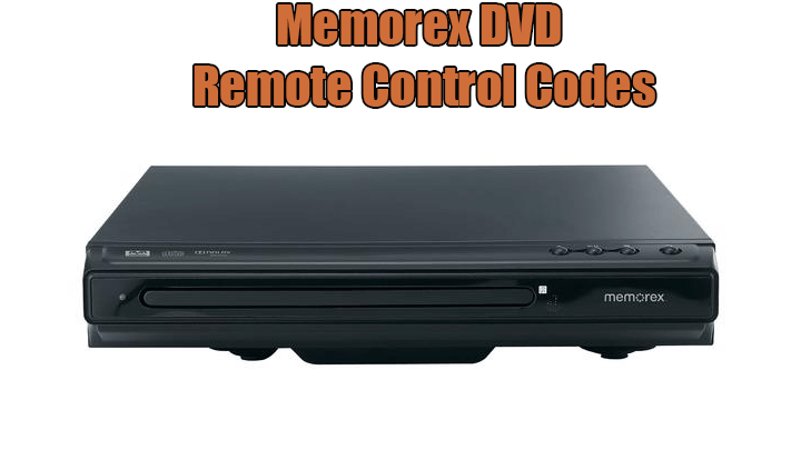 Memorex DVD Remote Control Codes