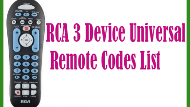 RCA 3 Device Universal Remote Codes List
