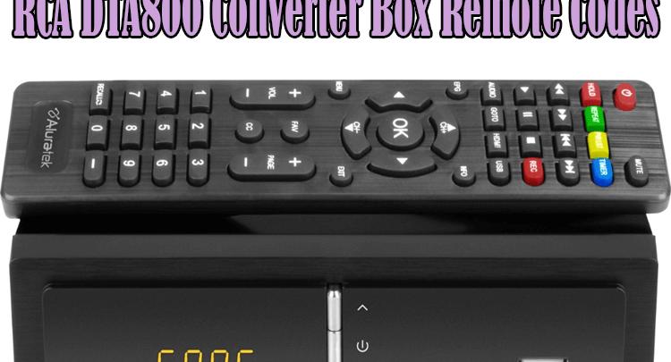 RCA DTA800 Converter Box Remote Codes