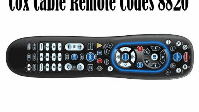 Cox Cable Remote Codes 8820