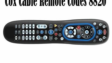 Cox Cable Remote Codes 8820