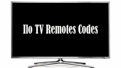 Ilo TV Remotes Codes
