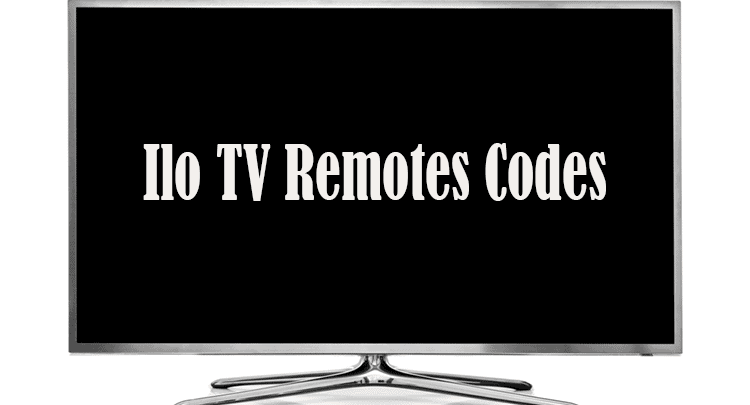 Ilo TV Remotes Codes