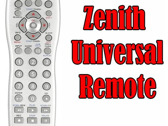 Zenith Universal Remote