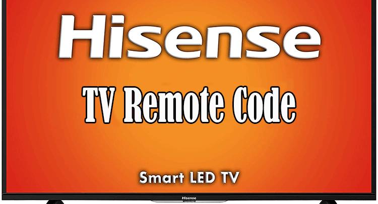hisense tv remote code