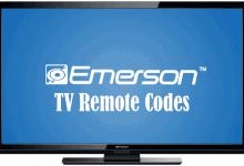 Emerson TV Remote Codes