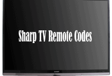 Sharp TV Remote Codes