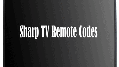 Sharp TV Remote Codes
