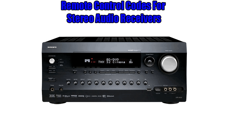 yamaha reciever remote codes
