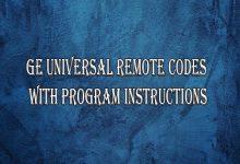 ge universal remote codes